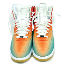 NIKE LUNAR FORCE 1 HI TURBO GREEN/LIGHT CRIMSON 10.5 SNEAKERS WITH BOX
