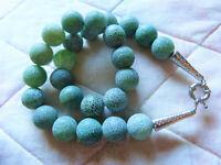 Blaue Achatkette, crack agate, DIY für Kettenbau, Halskette