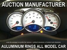 PORSCHE BOXSTER 986 1996-2004  Chrome dial gauge rings Polished alloy surrounds