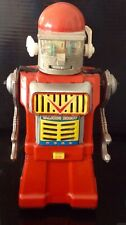 Vintage TALKING ROBOT YONEZAWA 1960s Japan SPACE TIN BATTERY -OP