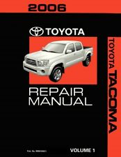 2006 Toyota Tacoma Shop Service Repair Manual Volume 1 Only