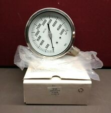 "WAL Gauge 0-500 PSI AISI 316L 125MM Bottom 1/2"" NPT (M) - New in Box/Old Stock"
