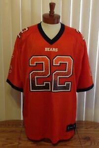 Chicago Bears Matt Forte Reebok Jersey Stitched Orange Black Color Rush 2XL