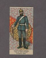 1888 Kinney Tobacco Military Series N224 FIELD ARTILLERY GERMANY 1886