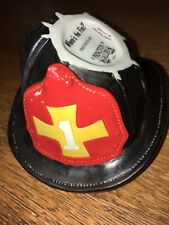 Porcelain Fire Fighter Helmet 1990 Princeton Gallery/ Where's The Fire