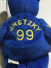 WAYNE GRETZKY COLLECTIBLE SALVINO BAMMER NHL BEANIE BEAR FREE SHIPPING