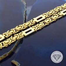 Wert 9.550,- Massive 750 / 18 Karat Gold Bicolor Königs Kette Unisex 62 cm xxyy