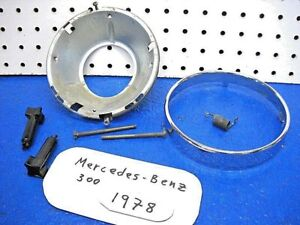 Oct 1976-1985 Mercedes Benz 300 Part Fog Light Bucket and Retaining Ring 1978