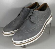 253719 SPD50 Men's Shoes Size 9 M Gray Leather Lace Up Johnston & Murphy