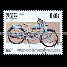 ★ WANDERER 1 SP SACHS 98 cc de 1939 ★ CAMBODGE Timbre Moto Motorcycle Stamp #20