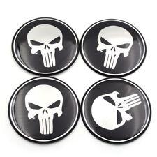 4pcs Car Auto Punisher Skull 56mm Wheel Center Hub Cap Emblem Badge Decal