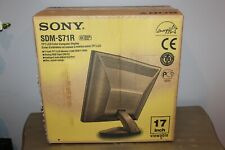 SONY SDM-71R TFT LCD COMPUTER BLACK COLOR MONITOR DISPLAY