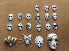 19 Venetian Decorative Ceramic Hand Painted Wall Masks Carnival