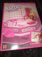 1987 Sweet Roses Barbie Beauty Bath set (shower & bath really work)