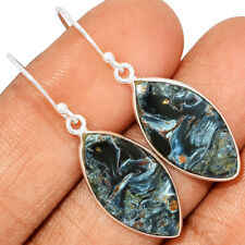 Pietersite - Namibia 925 Sterling Silver Earring Jewelry AE170240