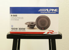 "*NEW* ALPINE R-S65 6-1/2"" R-SERIES 2-WAY COAXIAL SPEAKERS W/ STEEL MESH GRILLES"