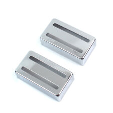 2x Two-slot Humbucker cover for Filtertron style guitar pickup ,Metal chrome