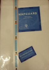 *REDUCED* NAPGUARD Quality Flannelette SUPERKING FLAT SHEET- WHITE  100% Cotton