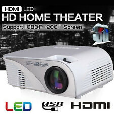 FULL HD 1080p 2000 Lumens LED Home Cinema Theater Projector HDMI USB US STOCK