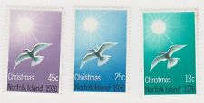 (OU-130) 1976 Norfolk Island 3set Christmas 18c, 25c& 45c MUH