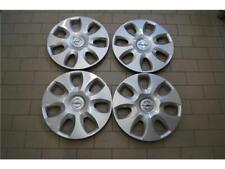 "4x Original Opel Corsa D/E Adam Tapacubos Plata 15"" 13265184/6006266 Nuevo"