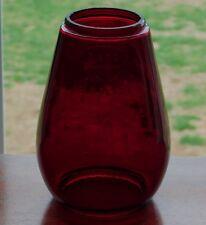 Vintage Dark RED Glass GLOBE Embossed FOR DIETZ JUNIOR COLD BLAST Lantern