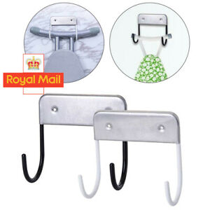 Ironing Board Hanger Iron Holder Rack Wall Door Holder Home Decor Table Hook T