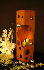 Feuer Säule Bubbles Edelrost  Rost Metall Edelstahl - Kugel Fackel Windlicht