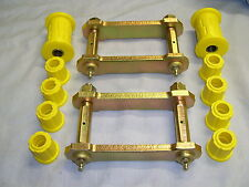 HOLDEN TF  RODEO  EXTENDED REAR SPRING SHACKLES & POLY  BUSH KIT 1988 to 2002