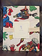 NEW Pottery Barn Kids Marvel Agengers 4pc FULL Sheet Set, Superheroes