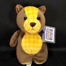 "Ganz Amazing World Waffle the Bear Plush Stuffed Animal Sealed Code 6"" Brown"