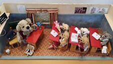 """TOP antike Puppenstube """"Bärenschule"""" mit Teddys original Meyenbären u. Zubehör"""