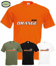 Heavy T Shirt, RIDE ORANGE, für zb KTM, Adventure, Supermoto Enduro, Cross Fans