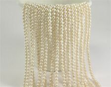 5-5.5 mm AA Natural White Potato Freshwater Pearl Beads, Genuine Pearls (#222)