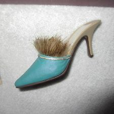 Just The Right Shoe Seduction Teal Collectible Miniature 25233 Parkwest Exclusiv