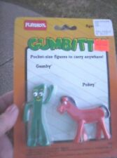 Vintage Gumbitty Gumby & Pokey pocket-size figures to carry anywhere1988