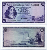 SOUTH AFRICA 5 RAND ND 1975 P 112 C JAN VAN RIEBEECK AU-UNC