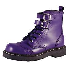 T.U.K. Femme Anarchic 7 Eye Bout D'Aile & Boucle Violet Bottes De Cuir EU38/UK5-T2184