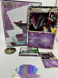 Pokemon TCG - Dragapult Celebrations Promo SWSH132, Jumbo Card, Binder & Coin
