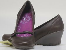 Women's Merrell Petunia Expresso Brown Casual Mary Jane Wedge Heels US Size 8