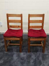 2er Set Stühle Eiche Massiv Art Deco / Esszimmerstuhl / Stuhl