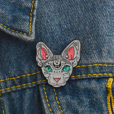 1PC Sphynx Cat Art Enamel Pins And Brooches Lapel Pin Backpack Bags Badge Gift