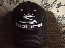 Cobra Pro Tour lightweight Golf cap one size black with white logo