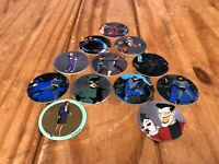 12x French Avimage Batman Pogs RARE 1995