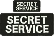 SECRET SERVICE embroidery patch  4x10 and 2x5hook on back