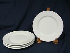 "Swid Powell ""Commercial White"" Calvin Klein Salad Plates - Set of 4 RARE HTF"