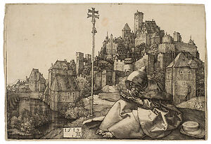 St. Anthony Reading Albrecht Dürer Durer engraving ca.1519