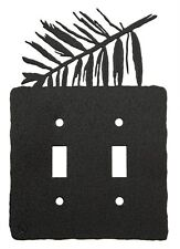 Fern double light switch plate cover