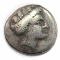 Chalkis, Euboia. AR Drachm (16 mm, 2.94 g), c. 338-308 BC