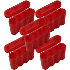 AA AAA CR123A Red Battery Holder Storage Case 5 Cases